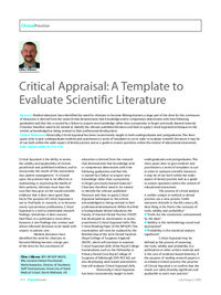 how to evaluate a medical research article
