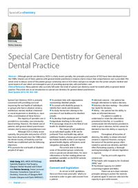 special care in dentistry pdf