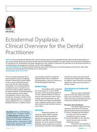 Dental Update: Archive - Article: Ectodermal Dysplasia: A