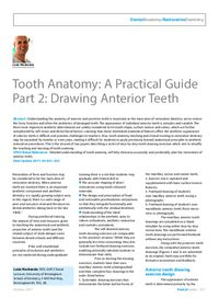 Dental Update: Archive - Article: Tooth Anatomy: A Practical Guide ...